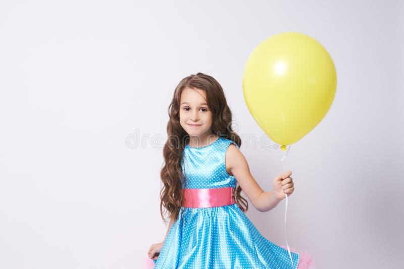 Celebration. Portrait girl. Happy child. Balloon. Dress stock photos