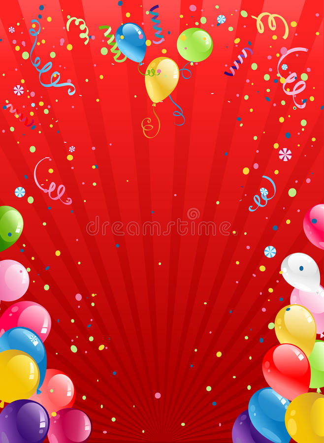 Download Celebration Red Background With Balloons Stock Vector - Image: 25290516