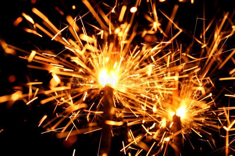 Celebration sparklers royalty free stock images