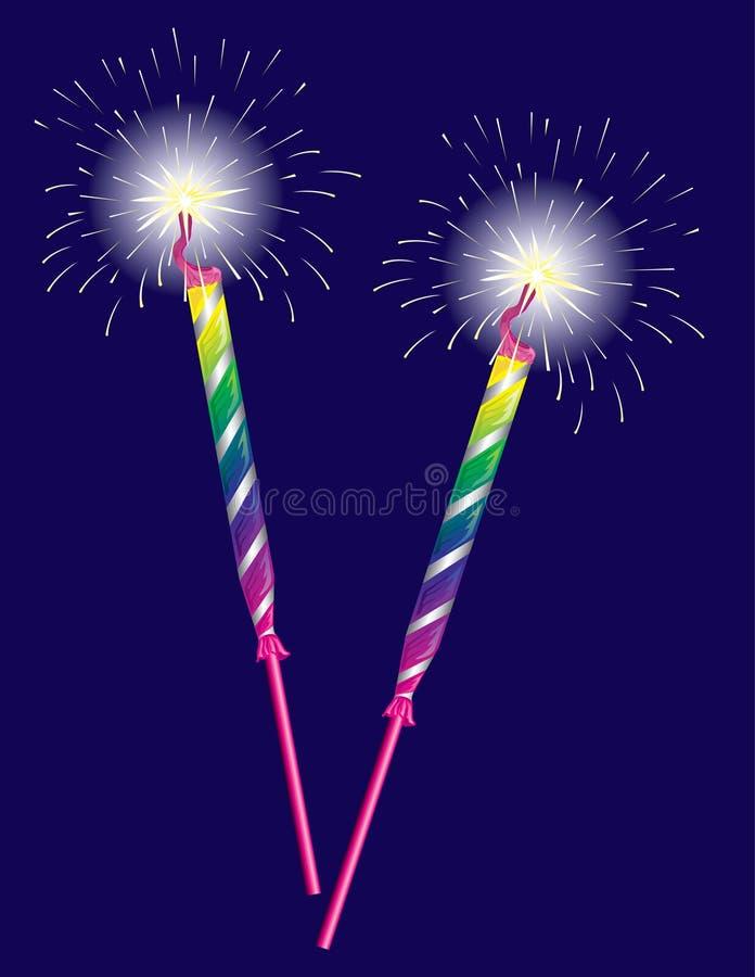 Celebration sparklers stock illustration