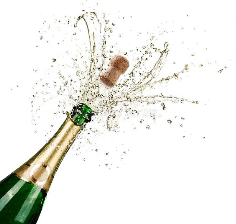 Celebration With Splashes Of Champagne royalty free stock photography