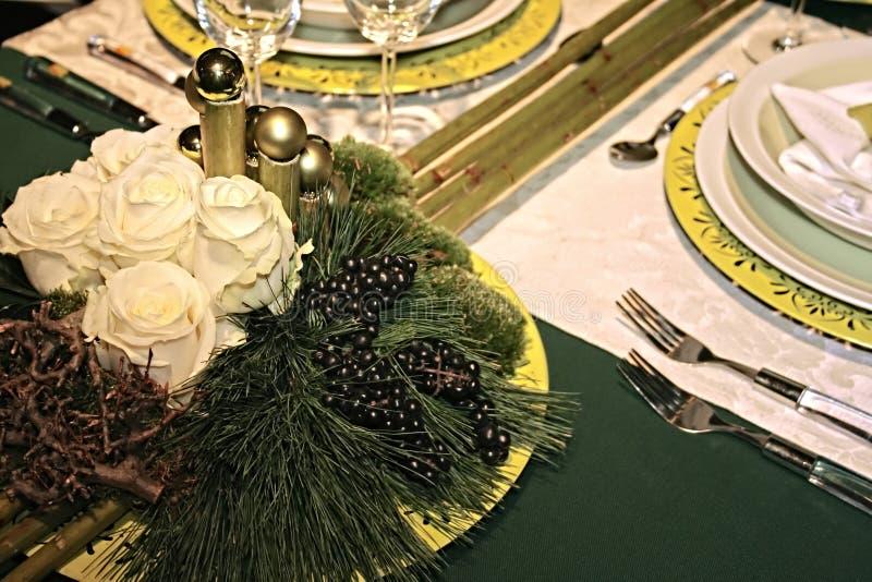 Celebration table stock images