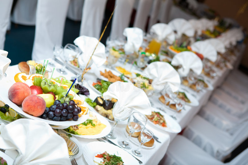 Celebration table royalty free stock images