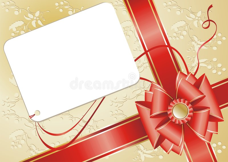 Download Celebratory Card, With Red Ribbon. Stock Vector - Image: 8443513