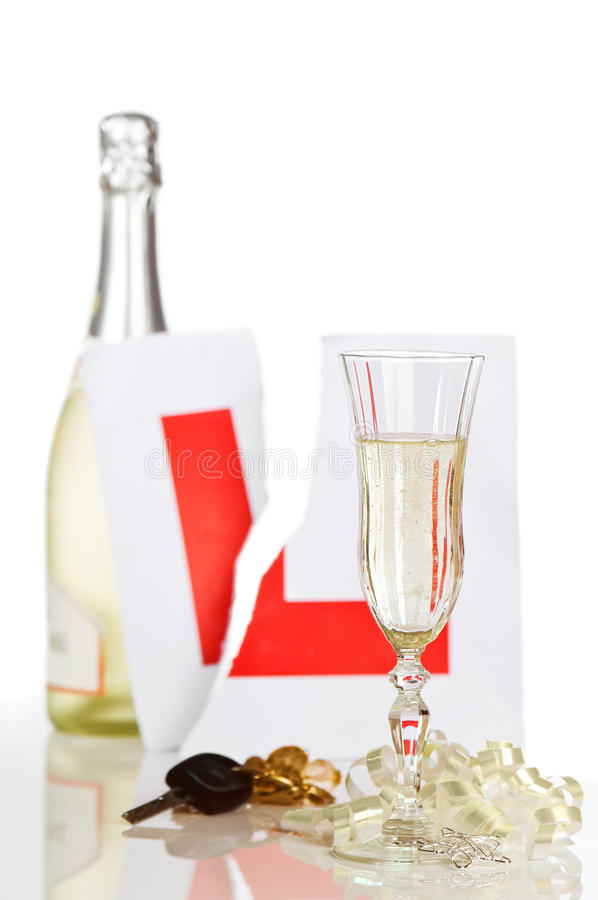 Celebratory Champagne stock photo