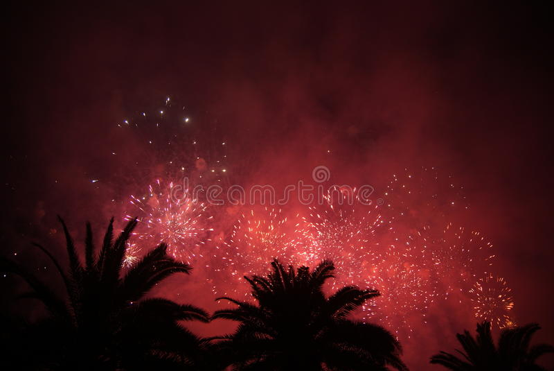 Celebratory fireworks royalty free stock photos