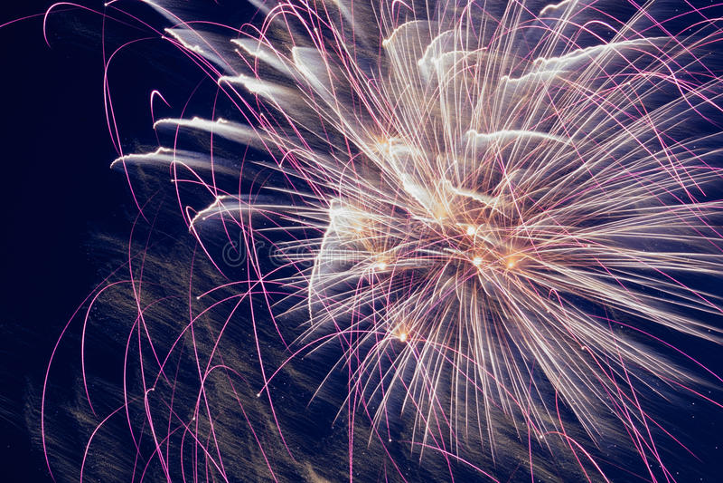 Celebratory fireworks stock photos