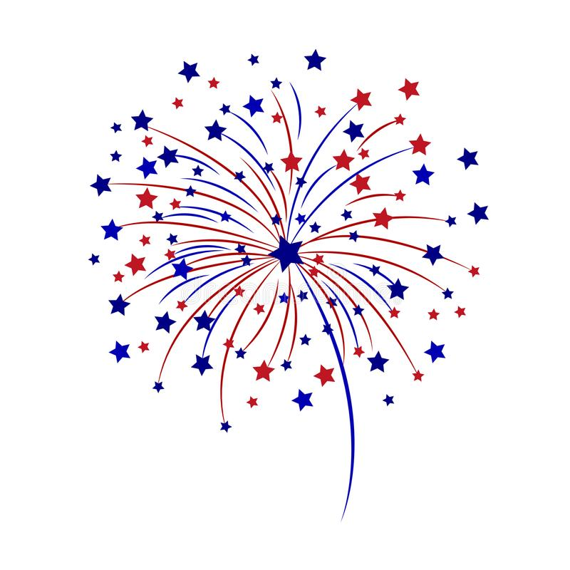Free Celebratory Fireworks On A White Background. Vector Illustration. Stock Photos - 116357623