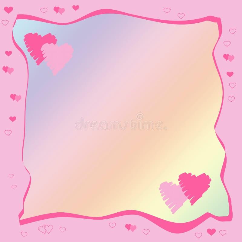 Celebratory framework to the Valentine's day stock photos