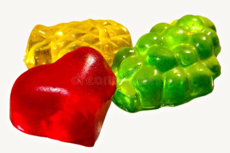 Celebratory fruit candyinking stock image