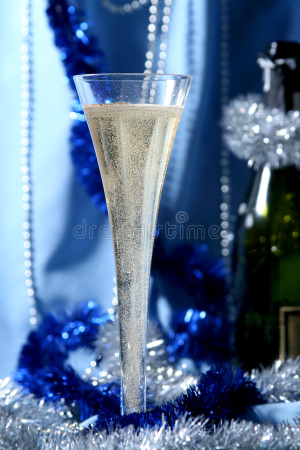 Celebrazione blu immagine stock