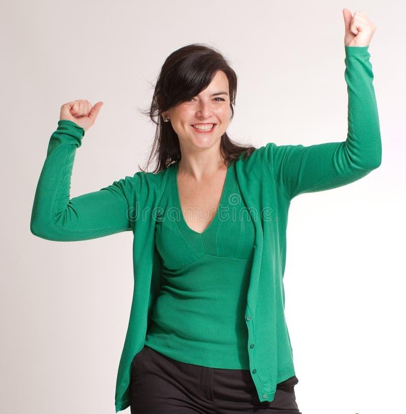Celebrazione castana nel verde fotografia stock