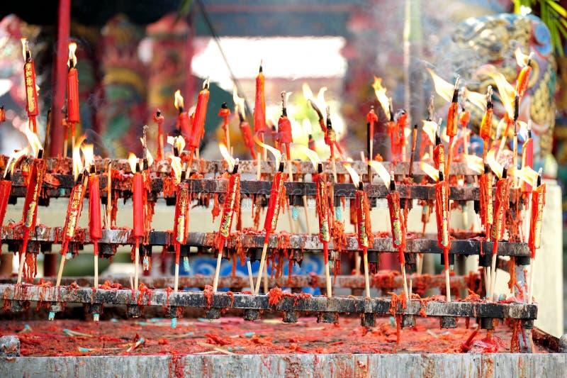 Celebrazione cinese del nuovo anno della candela immagini stock libere da diritti