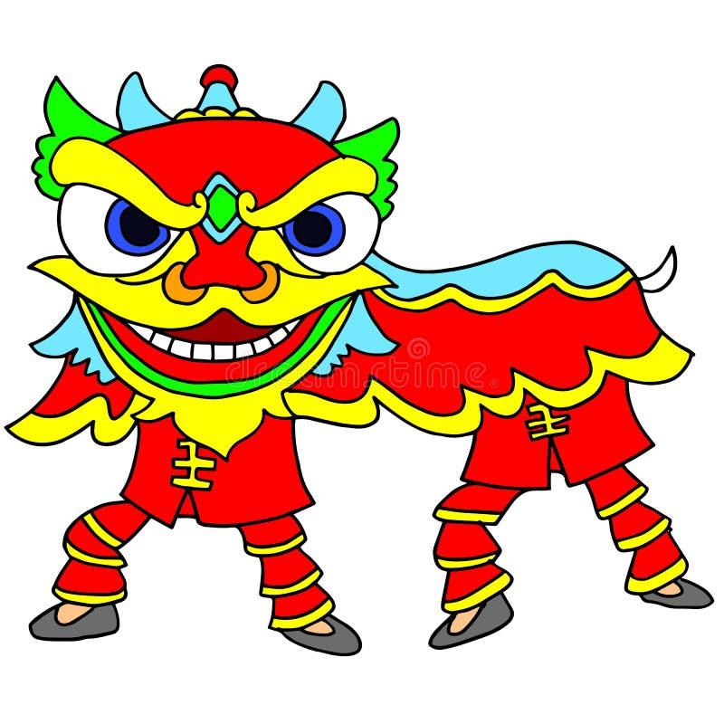 Celebrazione cinese Lion Dance del nuovo anno royalty illustrazione gratis