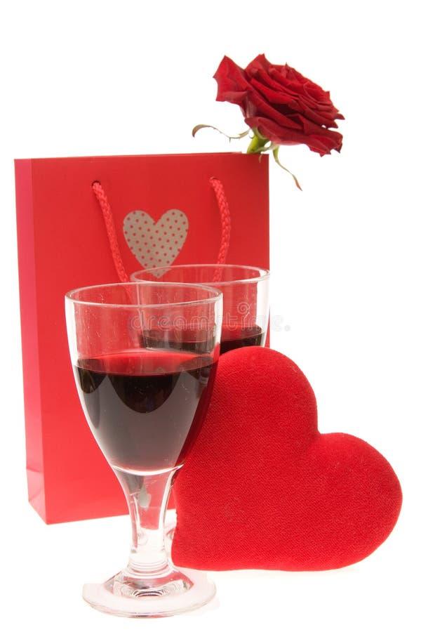 Celebrazione dei biglietti di S. Valentino immagine stock