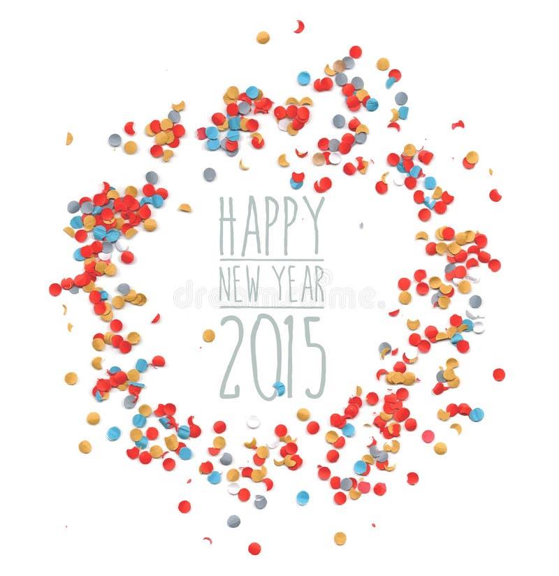 Celebrazione dei coriandoli del nuovo anno 2015 royalty illustrazione gratis