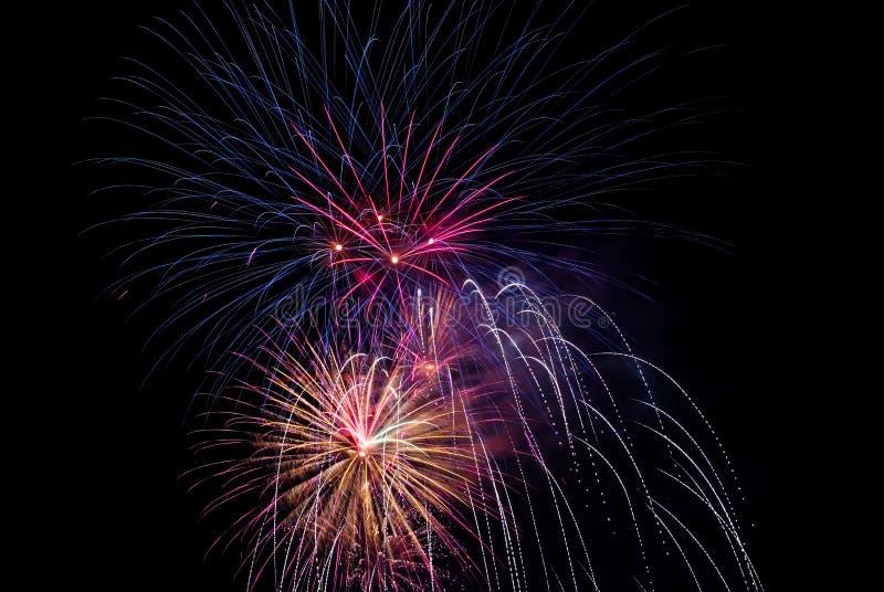 Celebrazione 657 dei fuochi d'artificio fotografia stock