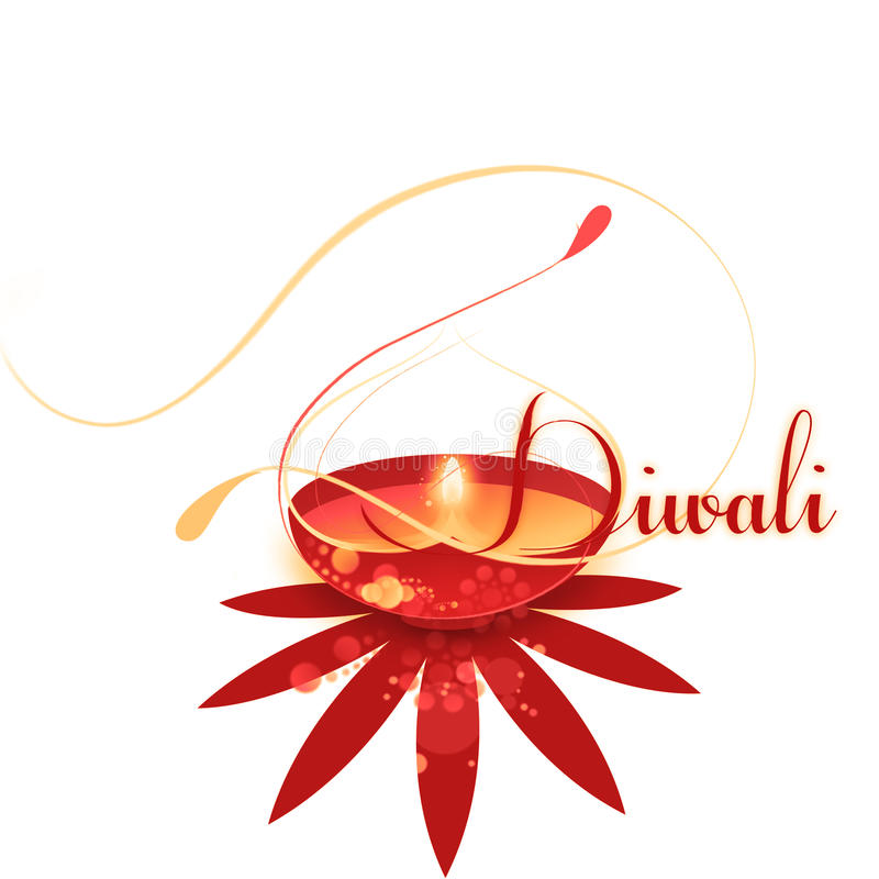 Celebrazione del grafico Colourful di Diwali immagine stock libera da diritti
