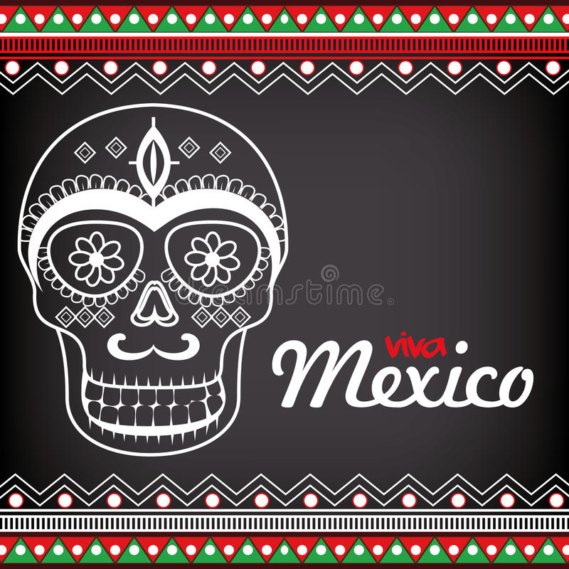 celebrazione del manifesto del Messico di viva royalty illustrazione gratis