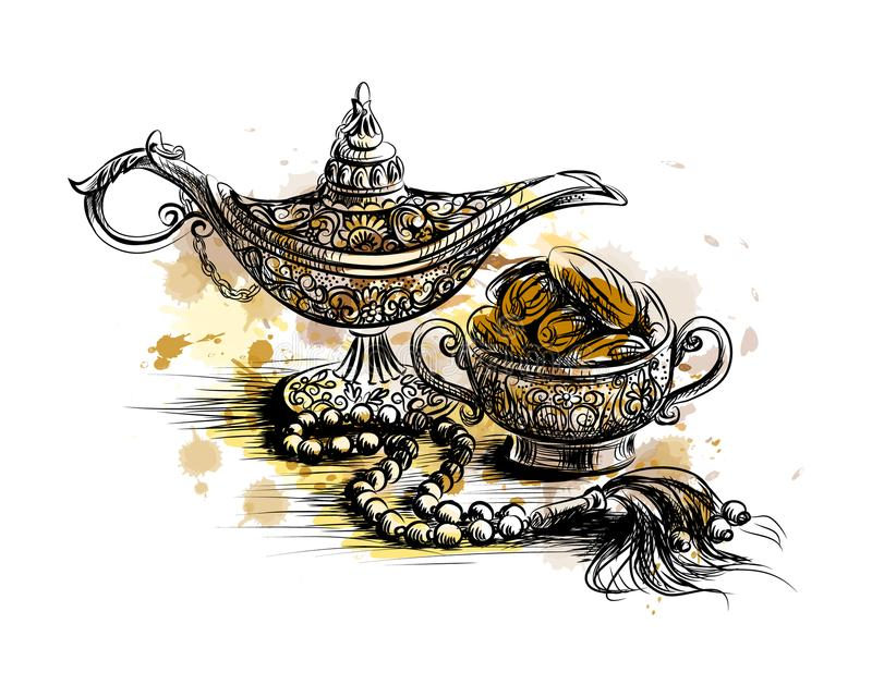 Celebrazione del partito di Iftar royalty illustrazione gratis