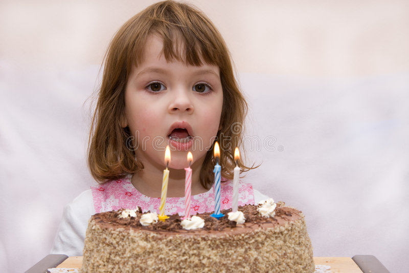 Celebrazione del quarto compleanno fotografie stock