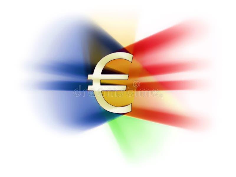 Celebrazione dell'EURO royalty illustrazione gratis