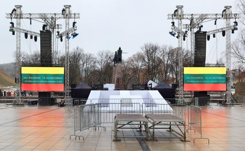 Celebrazione dell'indipendenza della Lituania, immagini stock libere da diritti