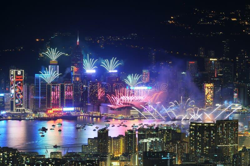 Celebrazione dell'nuovo anno a Hong Kong 2013 immagine stock libera da diritti