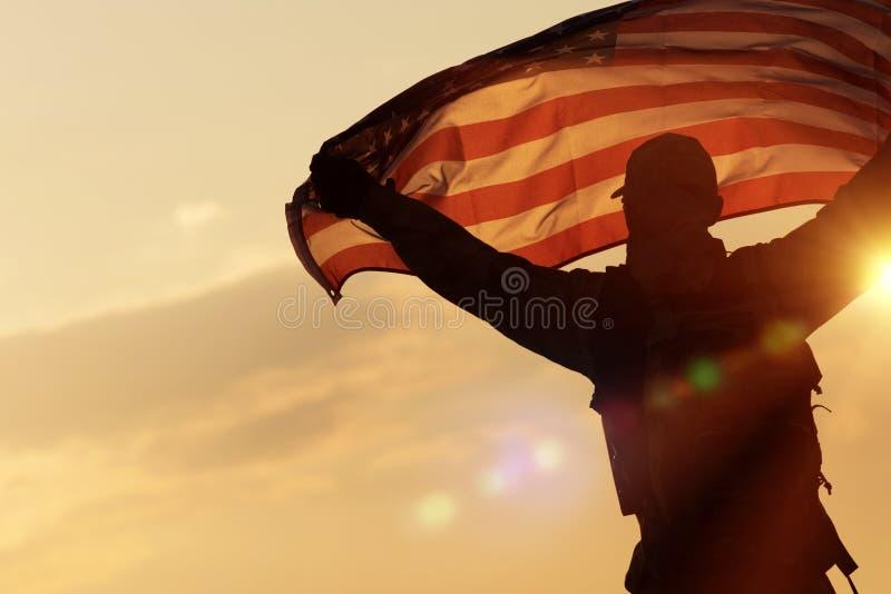 Celebrazione della bandiera americana immagini stock