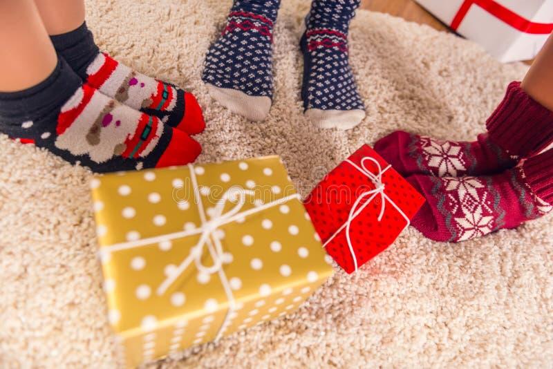 Celebrazione di Buon Natale fotografia stock
