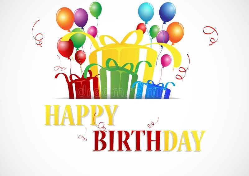 Celebrazione di compleanno illustrazione di stock