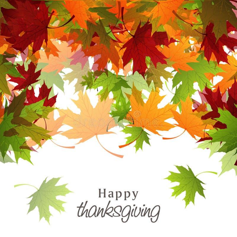 Celebrazione di giorno di ringraziamento con la carta variopinta delle foglie di acero illustrazione vettoriale