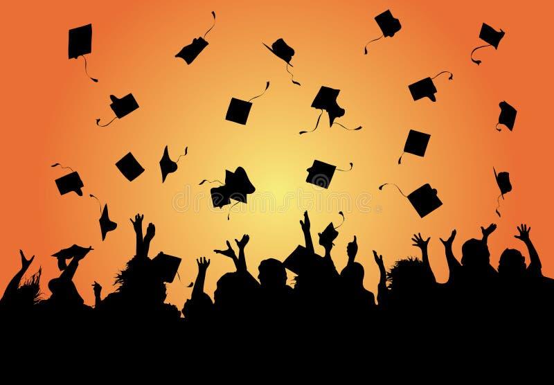 Celebrazione di graduazione illustrazione vettoriale