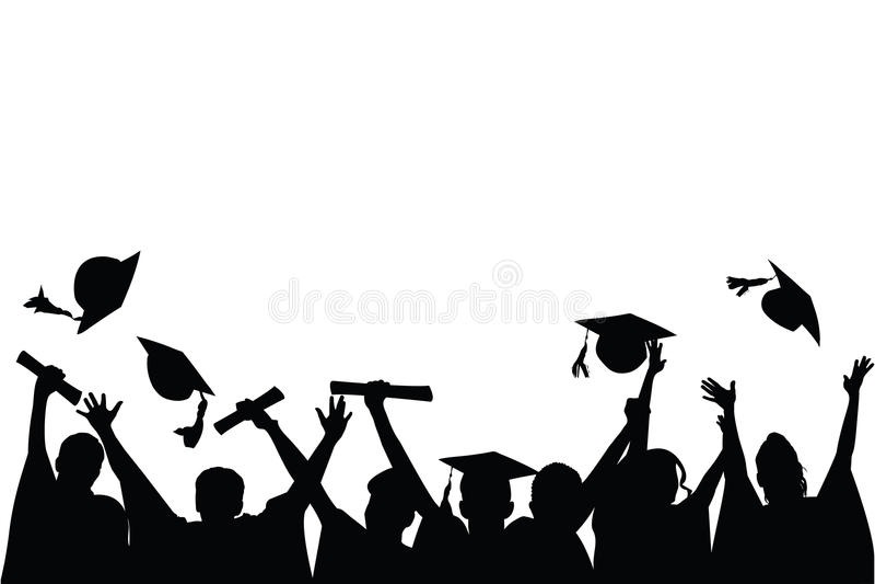 Celebrazione di graduazione illustrazione di stock