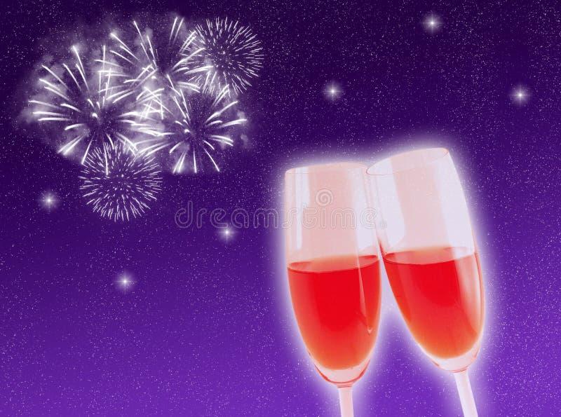 Celebrazione di nuovo anno royalty illustrazione gratis
