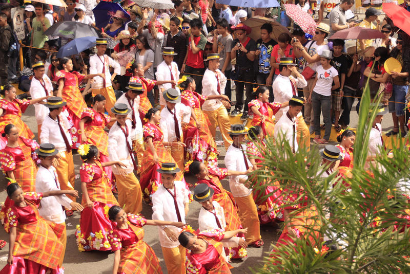 Celebrazione di parata di Sinulog Cebu fotografia stock libera da diritti
