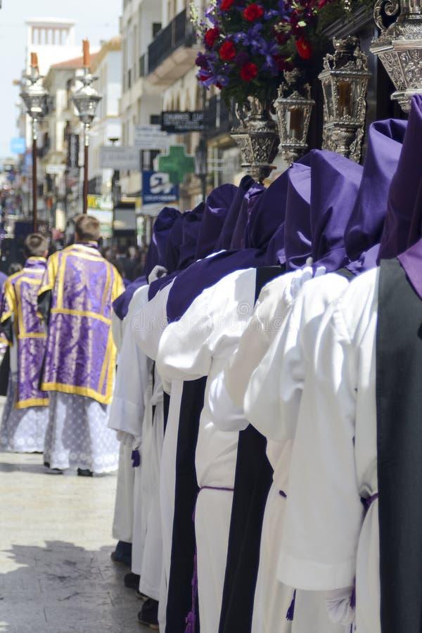 Celebrazione di settimana santa a Ronda, Malaga, Spagna fotografia stock libera da diritti