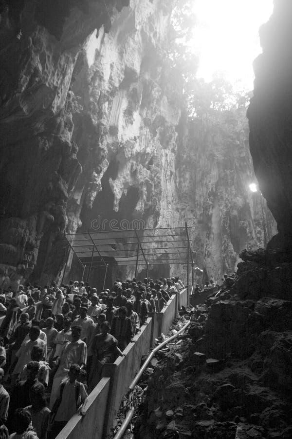Celebrazione di Thaipusam alla caverna di Batu, Malesia immagine stock