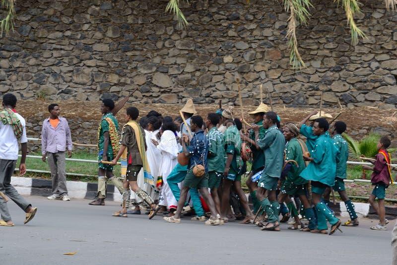 Celebrazione di Timkat in Etiopia fotografia stock