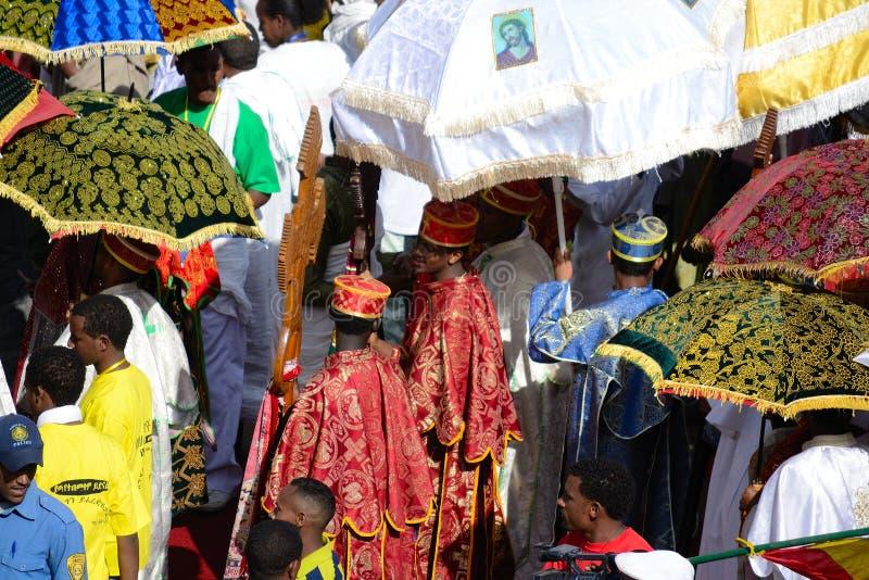 Celebrazione di Timkat in Etiopia immagine stock