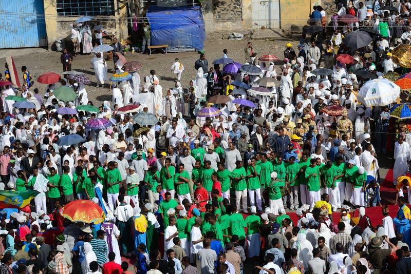 Celebrazione di Timkat in Etiopia immagini stock libere da diritti