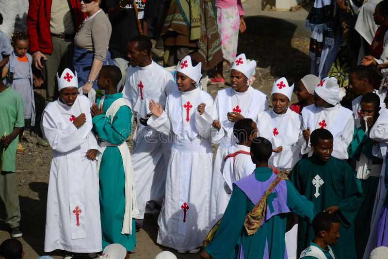 Celebrazione di Timkat in Etiopia fotografie stock