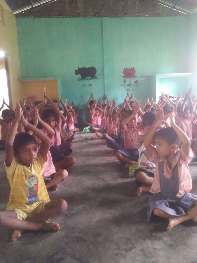 Celebrazione internazionale di giorno di yoga fotografie stock libere da diritti