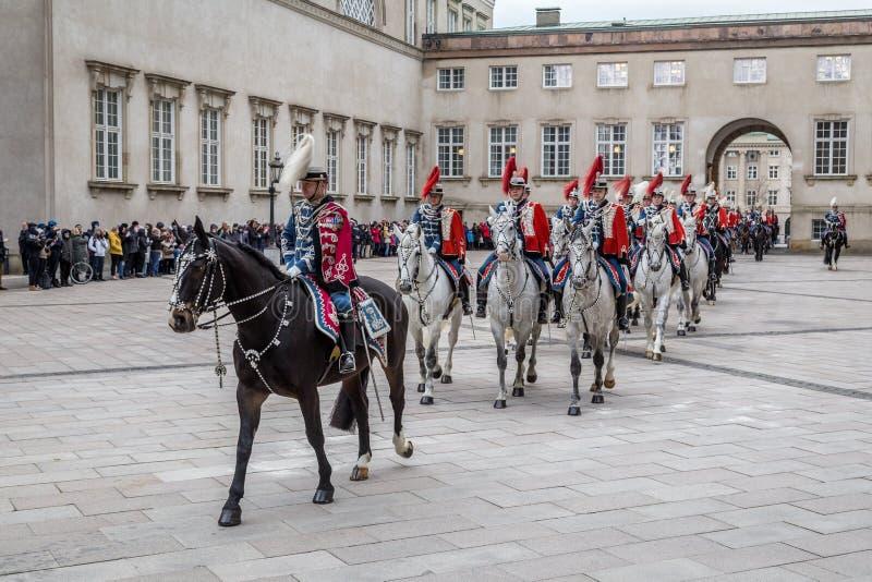 Celebrazione reale del nuovo anno a Copenhaghen, Danimarca immagini stock libere da diritti