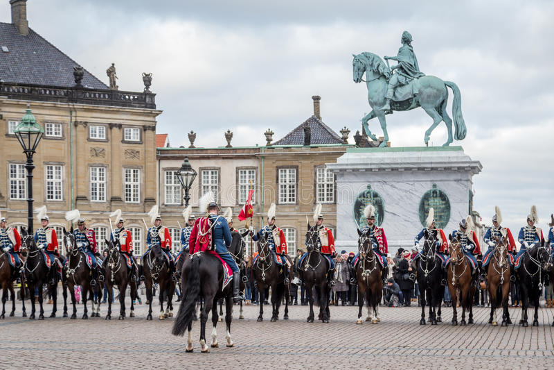 Celebrazione reale del nuovo anno a Copenhaghen, Danimarca immagini stock