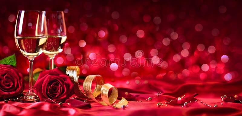 Celebrazione romantica del giorno di biglietti di S. Valentino fotografia stock libera da diritti
