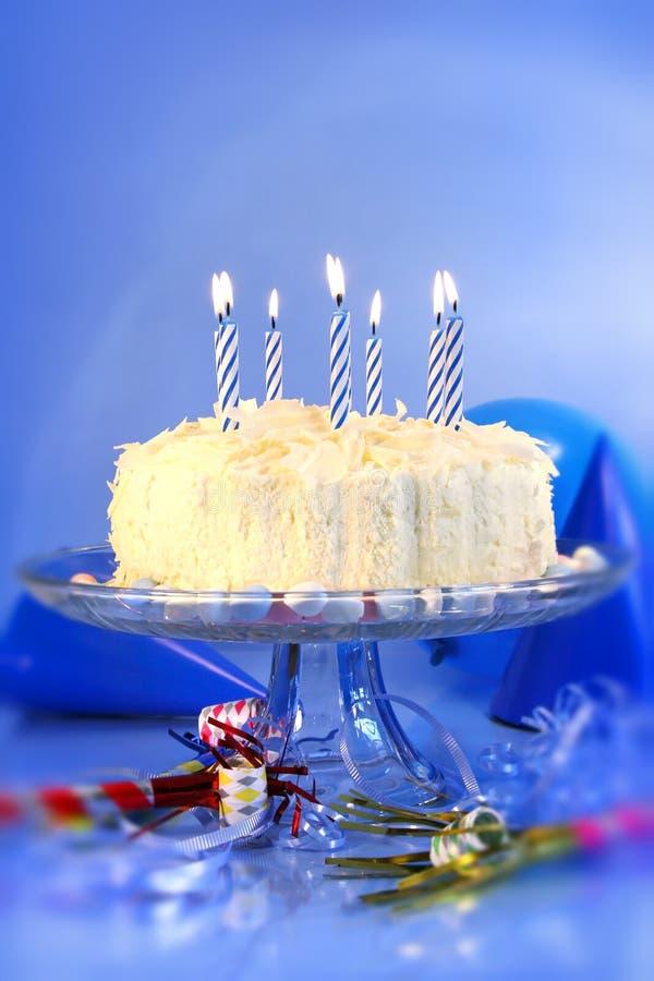 Celebrazioni blu di compleanno immagini stock libere da diritti