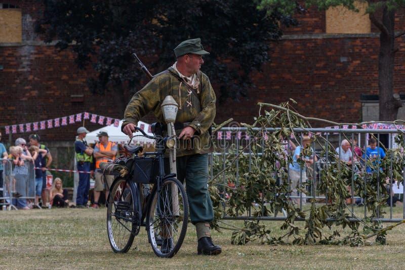 Celebrazioni BRITANNICHE di fine settimana delle forze armate Trowbridge 2018 Wiltshire fotografia stock libera da diritti