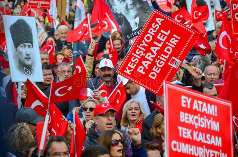 Celebrazioni del giorno della Repubblica, Eskisehir in Turchia fotografia stock libera da diritti