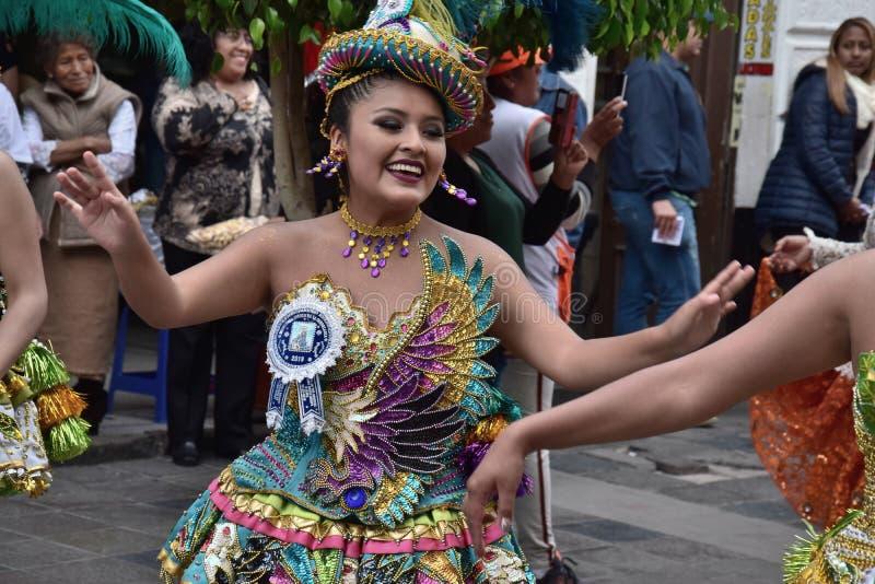 Celebrazioni locali e vestiti variopinti fotografia stock libera da diritti